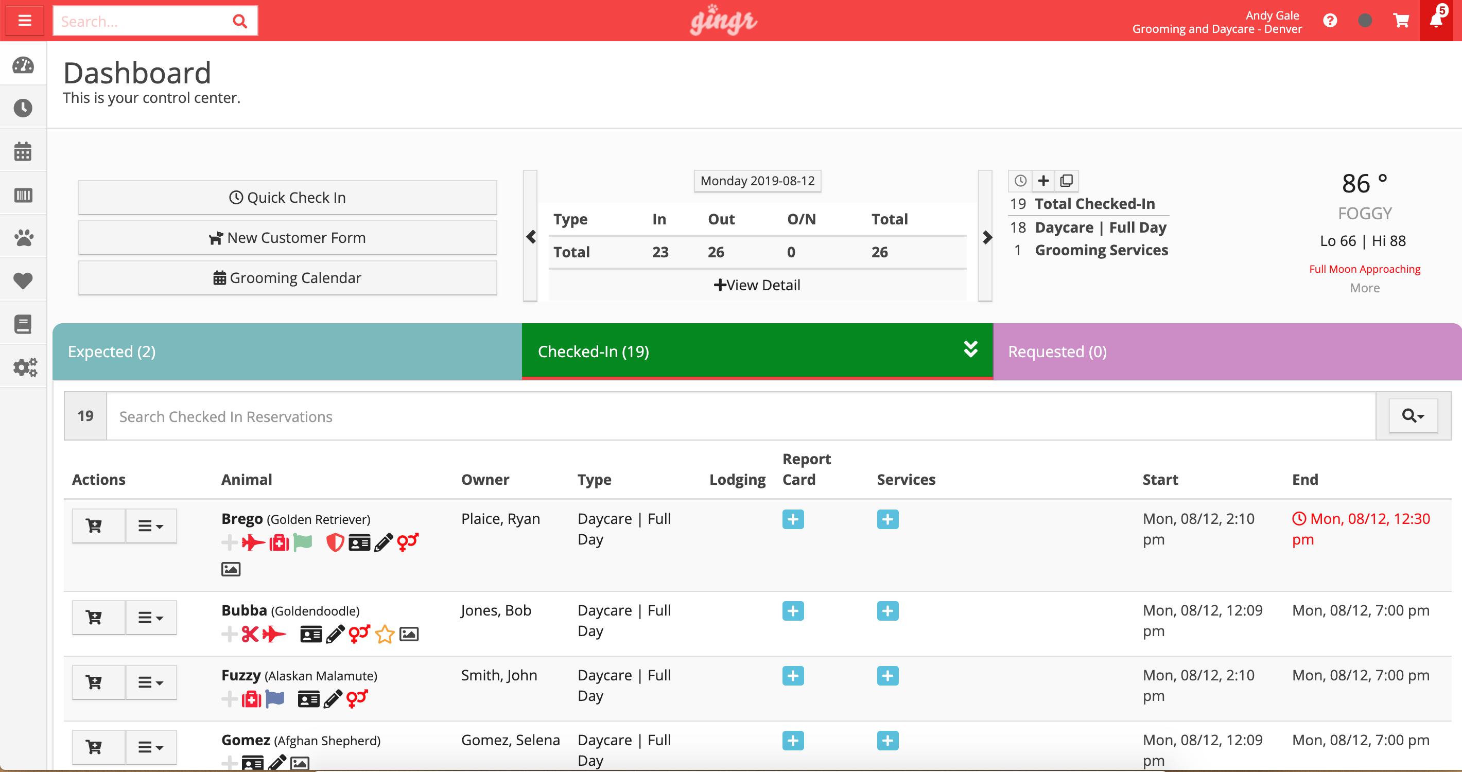 Dog Daycare software demo