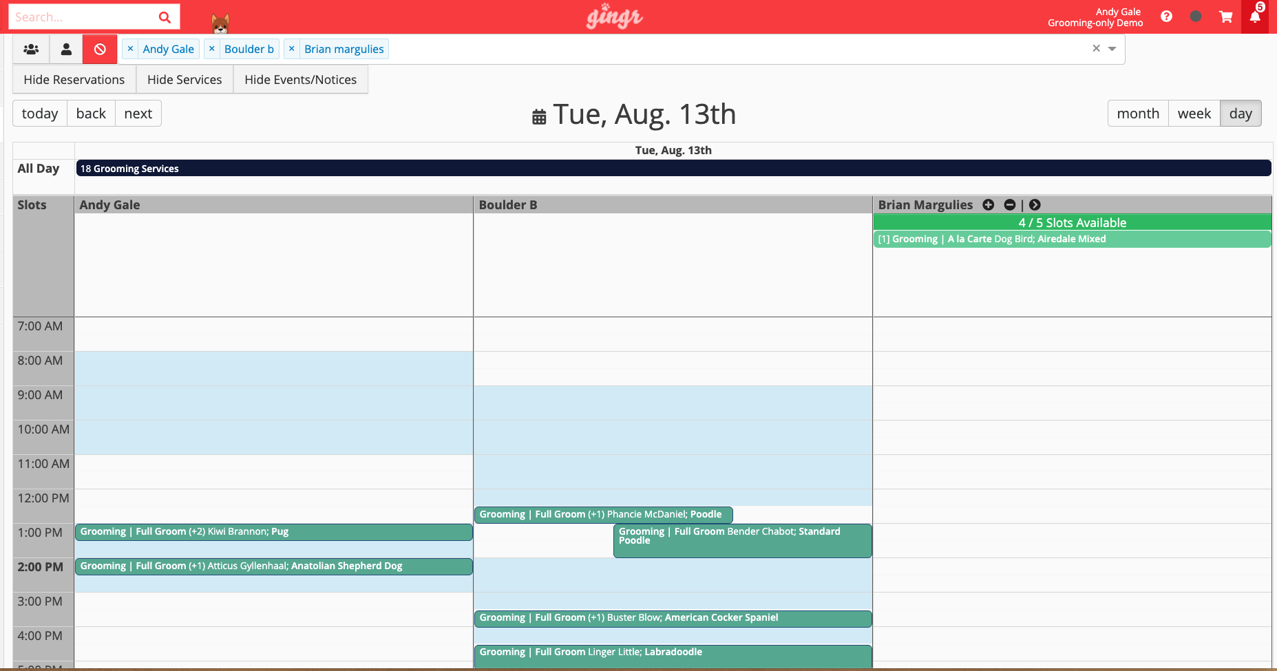 Dog grooming scheduling software